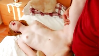 Vulgar bitchy whore is riding on the kinky big prick