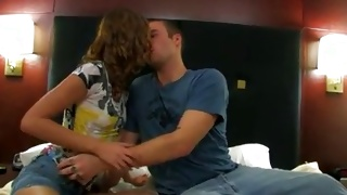 Take a look at the teen couple that gives the delicious kiss