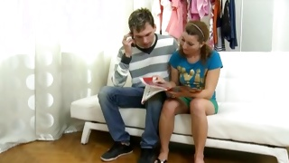 Depraved mature guy has undressed a tasty young gal
