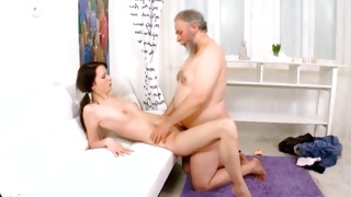 Horrible mature is fucking a bitch dirty in the doggie style