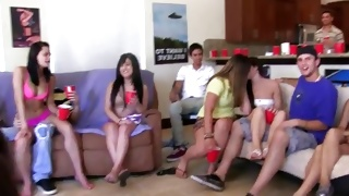 An amazing orgy on the sexually bizarre teen porn