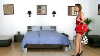Hotie babe keeps on riding this massive erect fuck stick kinky