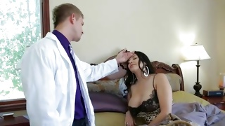 Nice tittied whore gonna be treated by a doctor