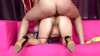 Hottie is riding dirty on the powerful pecker