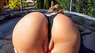 Swallowing cum after deep anal sex!